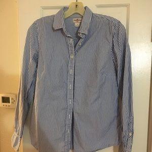 J Crew Striped Button Down Shirt